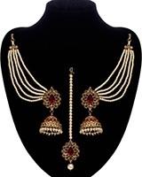 Regal Indian Jhumkas, Saharas & Tikka Jewellery Set IANA11123C Indian Jewellery