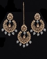 Value Antique Indian Earrings & Tikka Jewellery IAEK11489 Indian Jewellery