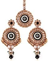 MASTI Earrings and Tikka IABK4066 Indian Jewellery