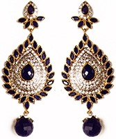 American Diamond Earrings ESLA02932 Indian Jewellery