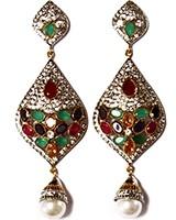 American Diamond Earrings ESMA02941 Indian Jewellery