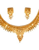 22k Effect Deilicate Necklace Set NGWN04682 Indian Jewellery