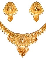 22k Effect Indian Necklace Set NGWN04684 Indian Jewellery