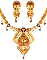 22k Effect Indian Necklace Set NGMP04691 Indian Jewellery