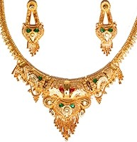 22k Effect Indian Necklace Set NGAP04699 Indian Jewellery