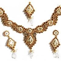 Antique white set NAWK0089 Indian Jewellery