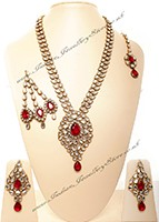 Jhumar & Rani Haar set - RONA NAWK10541C Indian Jewellery
