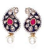 Meena Paisley Studs EGRA03803 Indian Jewellery