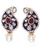 Meena Paisley Studs EGUA03806 Indian Jewellery