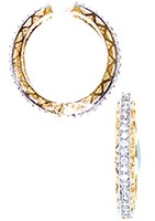 American Diamond Hoop Earrings EGWA03814 Indian Jewellery