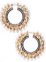Flat Hoop Bollywood Earrings EGWA03815 Indian Jewellery