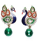 Peacock Indian Studs ESGA04314 Indian Jewellery