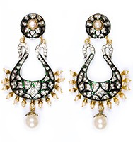 Neha Large Indian Earrings ESWA04345 Indian Jewellery
