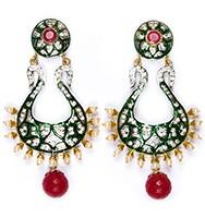 Neha Large Indian Earrings ESAA04346 Indian Jewellery