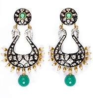 Neha Large Indian Earrings ESGA04348 Indian Jewellery