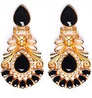 Large Matt Gold Earrings - Rangeela EEBA10382 Indian Jewellery