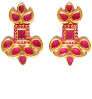 Matt Gold Studs - Pooja EERA10397 Indian Jewellery