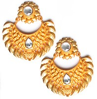 Matt Gold Chand Studs - Maheen EEWK10400 Indian Jewellery