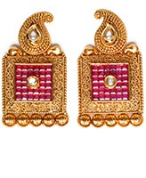Large Square Studs EARA10403 Indian Jewellery