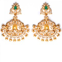 Fine American Diamond Peacock Chand EEGA10407 Indian Jewellery