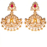 Fine American Diamond Peacock Chand EERA10408 Indian Jewellery