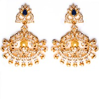 Fine American Diamond Peacock Chand EELA10409 Indian Jewellery