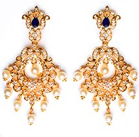 Kirsty Fine American Diamond Chandeliers EELA10410 Indian Jewellery