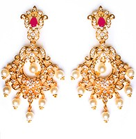 Kirsty Fine American Diamond Chandeliers EERA10411 Indian Jewellery