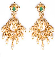 Kirsty Fine American Diamond Chandeliers EEGA10412 Indian Jewellery