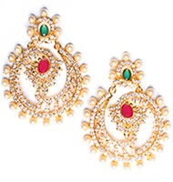 Keerat Fine American Diamond Chand Bali EEPA10415 Indian Jewellery