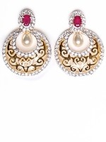 Chand semi-stud filigree earrings EEGA10950C Indian Jewellery