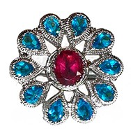 Large Indian Flower Ring RSLA10310 Indian Jewellery
