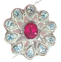 Large Indian Flower Ring RSPA10311 Indian Jewellery