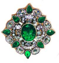 Large Mughal Ring RAGA10313 Indian Jewellery