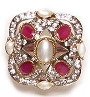 MUGHAL Medium Ring RGPA02755 Indian Jewellery