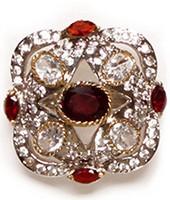 Medium Mughal Indian Ring RGRA02741 Indian Jewellery