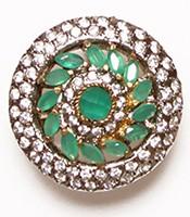 Medium Indian Ring - Mint Green RGGA02759 Indian Jewellery