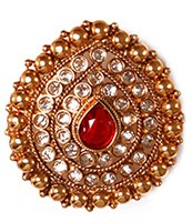 Large Rajasthani Ring RGRP03769 Indian Jewellery