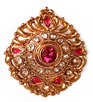 Large Rajasthani Ring RGPP03761 Indian Jewellery