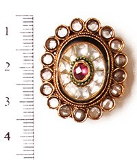 Medium Kundan Ring RGWK10314 Indian Jewellery