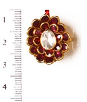 Small Kundan Mughal Ring RAMK04160 Indian Jewellery
