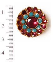 Small Kundan Mughal Ring RAMK04161 Indian Jewellery