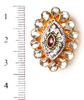 Small Kundan Mughal Ring RAWK04166 Indian Jewellery