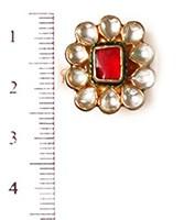 Small Kundan Mughal Ring RAMK04162 Indian Jewellery