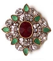 Large Mughal Ring RAAA03756 Indian Jewellery