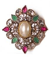Large Mughal Ring RAMA03757 Indian Jewellery