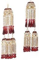 diamante Kaleeras: Pair AGRC0771 Indian Jewellery