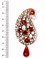 Ambi Brooch KGRC10072 Indian Jewellery