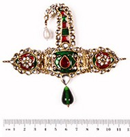 Wide Mughal Kalgi KGRK10085 Indian Jewellery