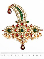 Khazana Wide Kundan Kalgi KGMK10089 Indian Jewellery
